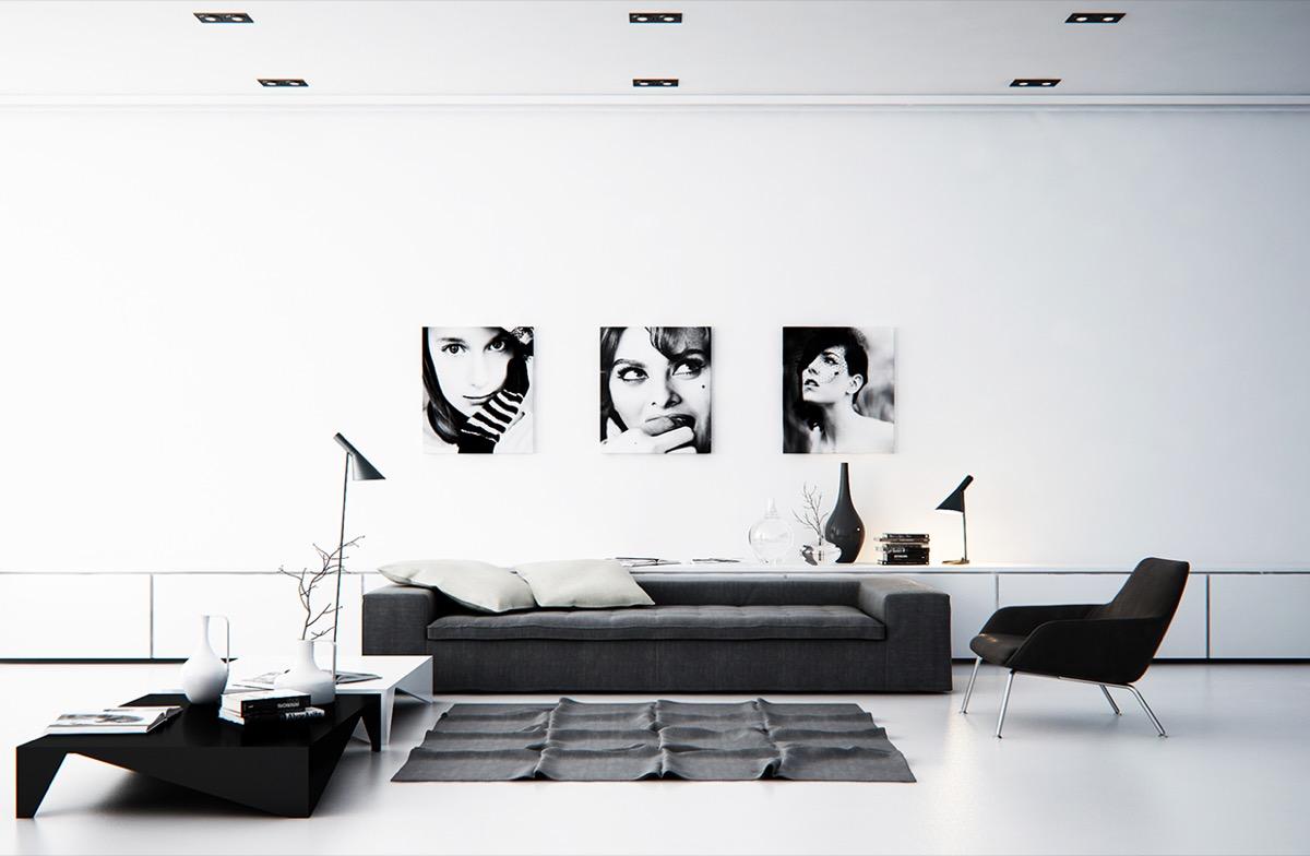 10 idee e foto di soggiorno in stile minimal