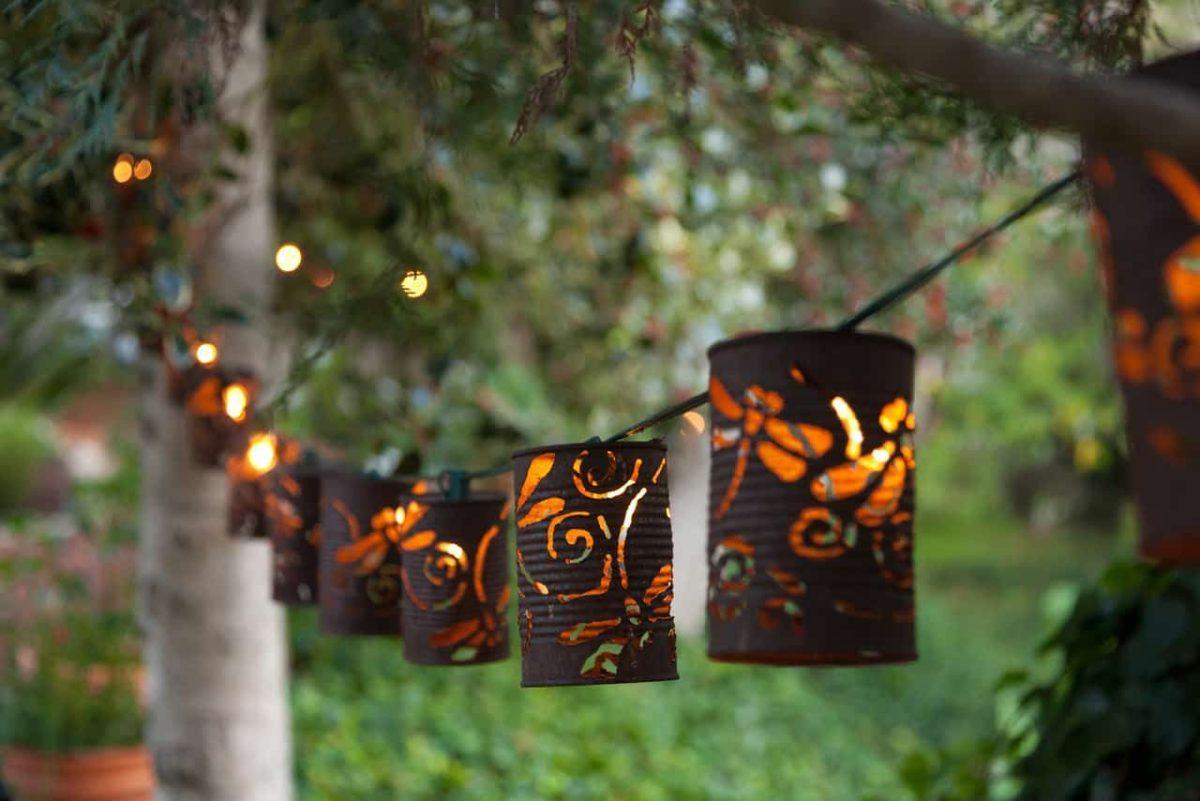 10 idee e foto per creare lanterne fai da te per il giardino