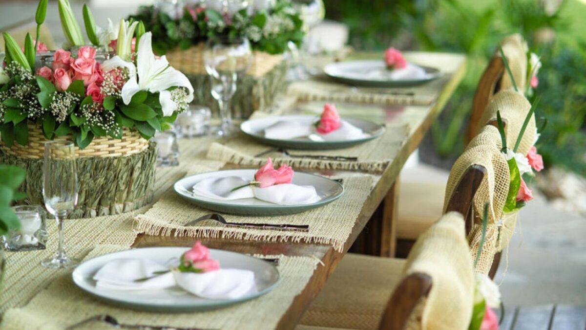 Apparecchiare la tavola verde