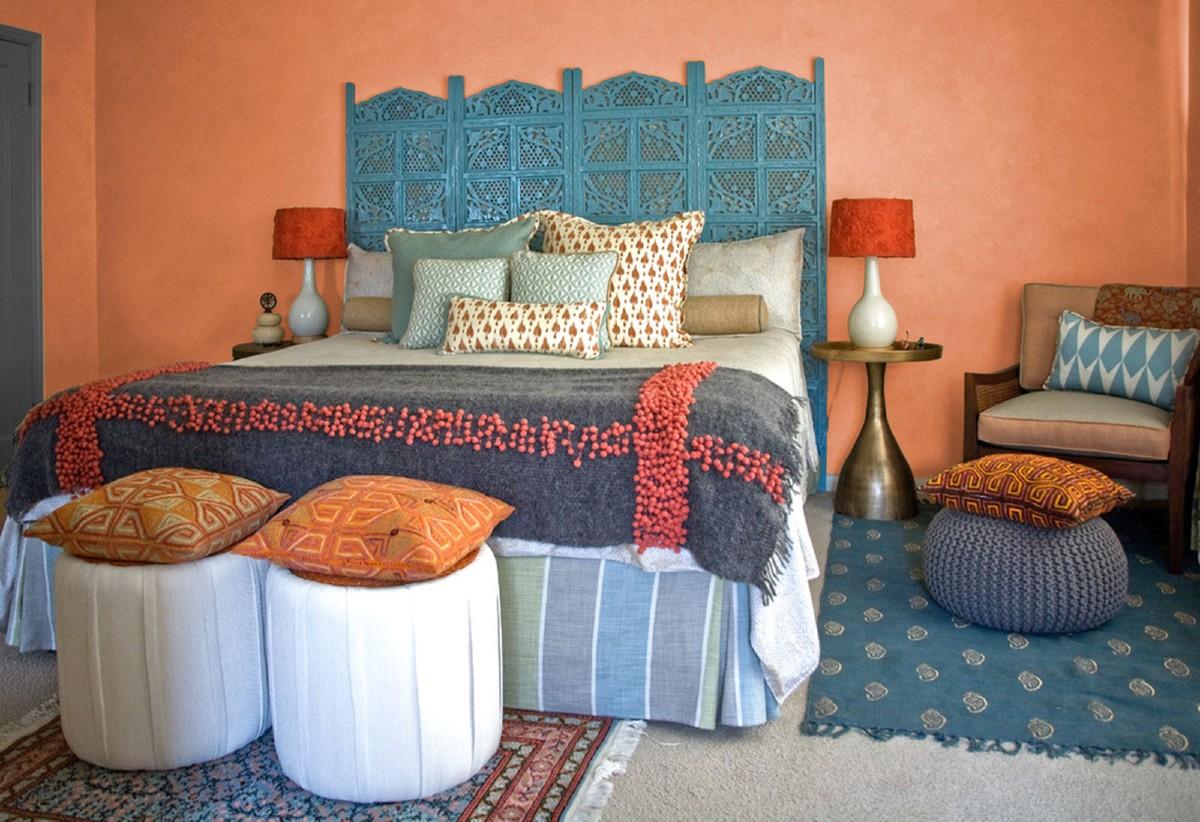 Camera da letto arancione e abbinamenti