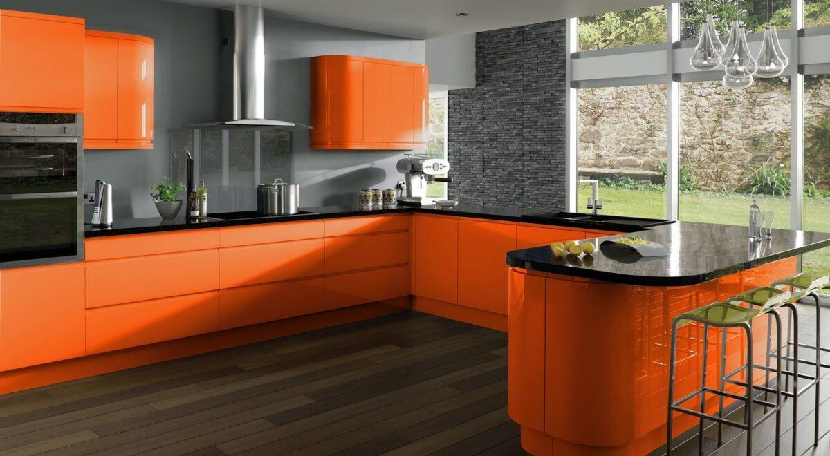 Abbinamenti migliori per l'arancione in cucina: 10 idee e foto