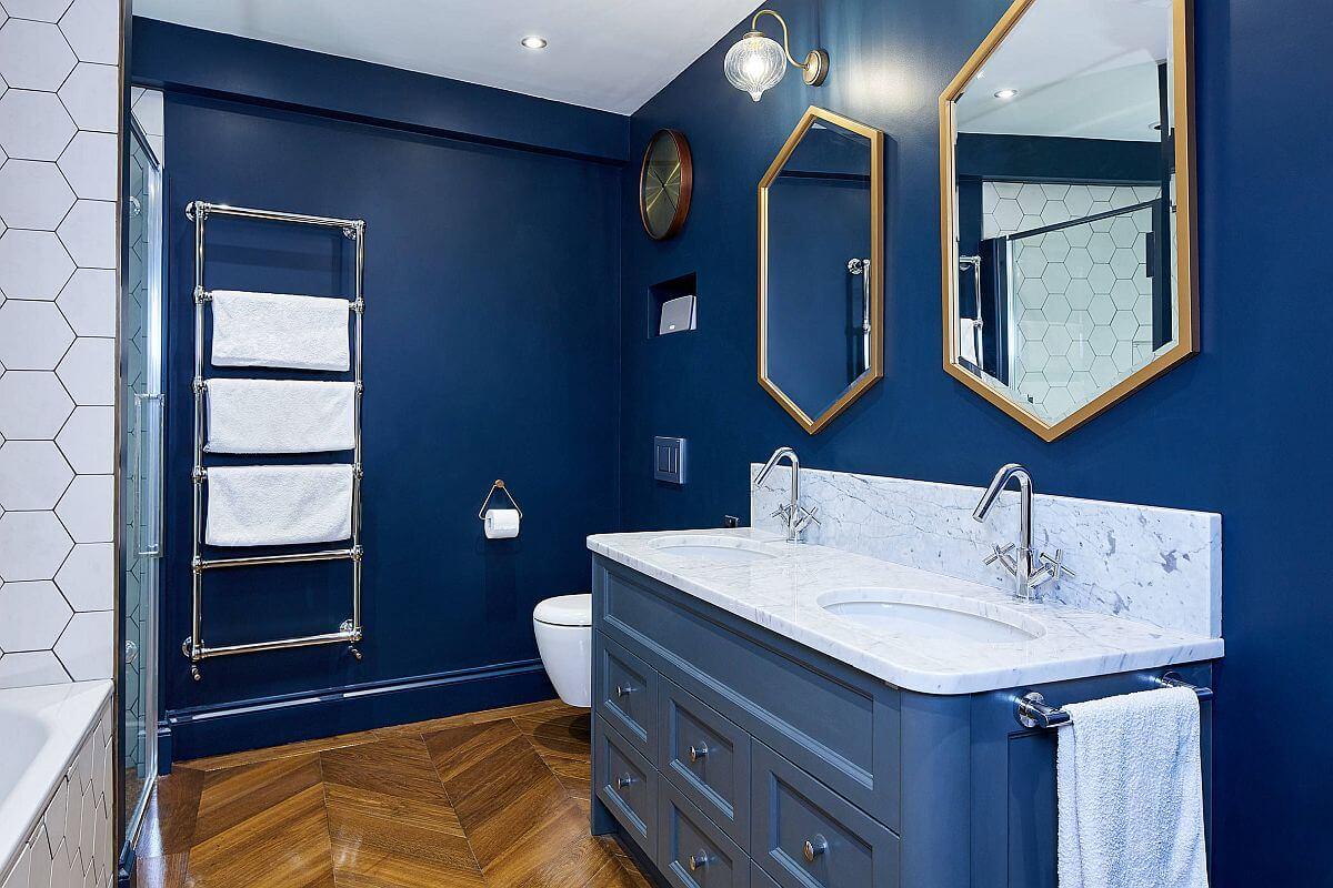 10 idee e foto di blu per il bagno