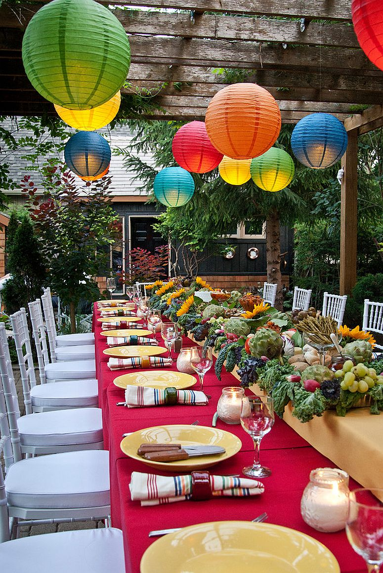 cena terrazza lanterne