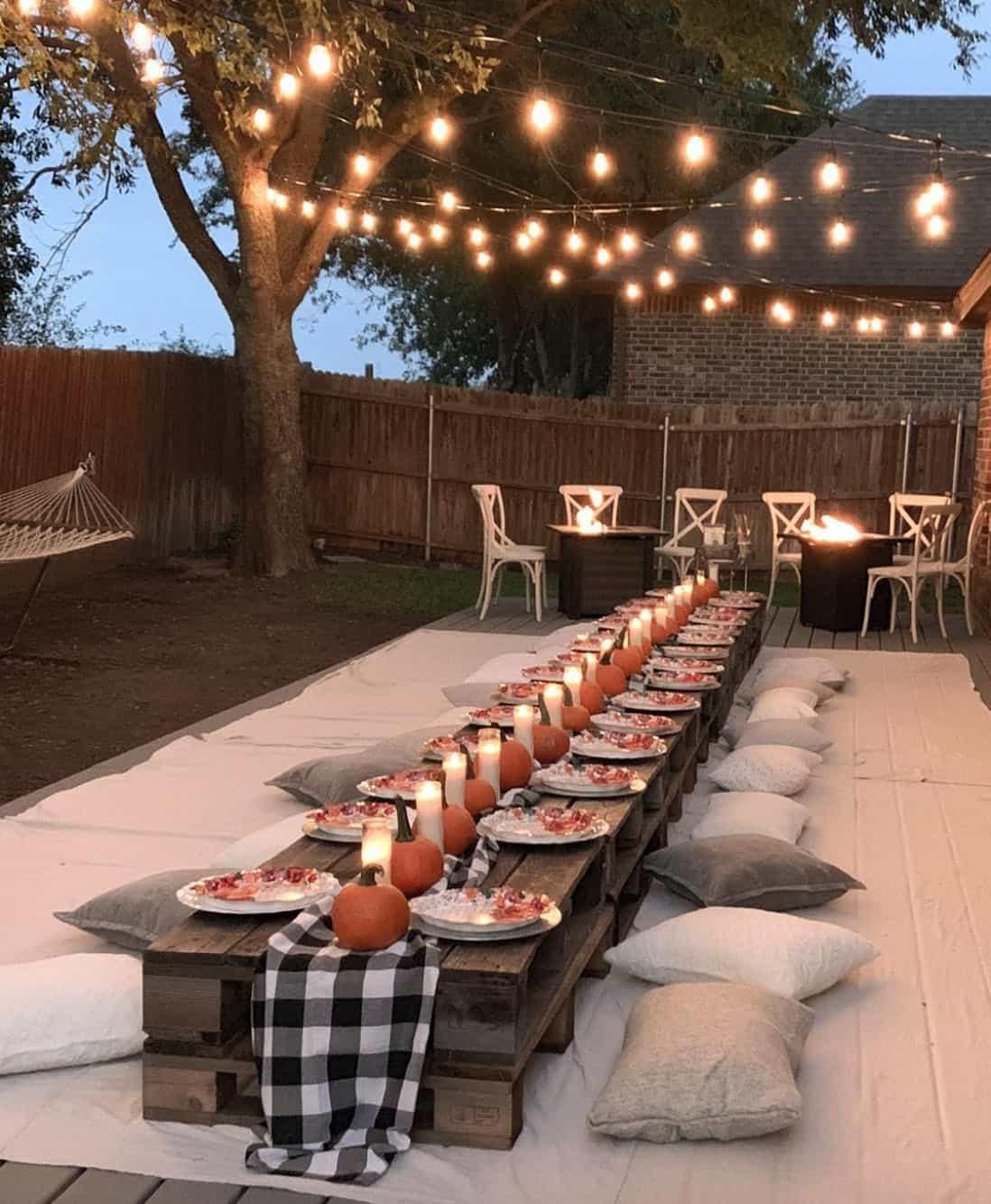 cena terrazza per terra