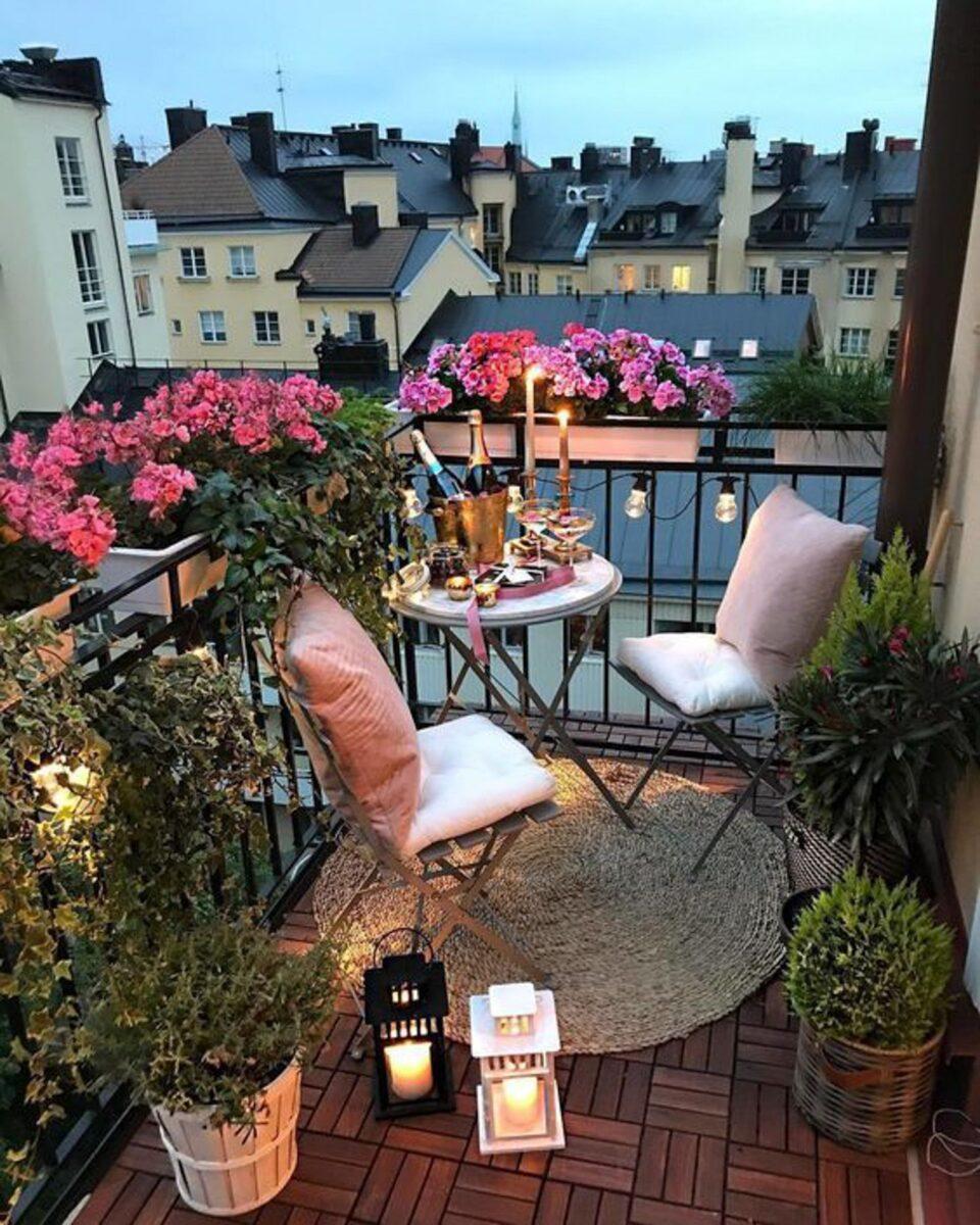 cena terrazza romantica