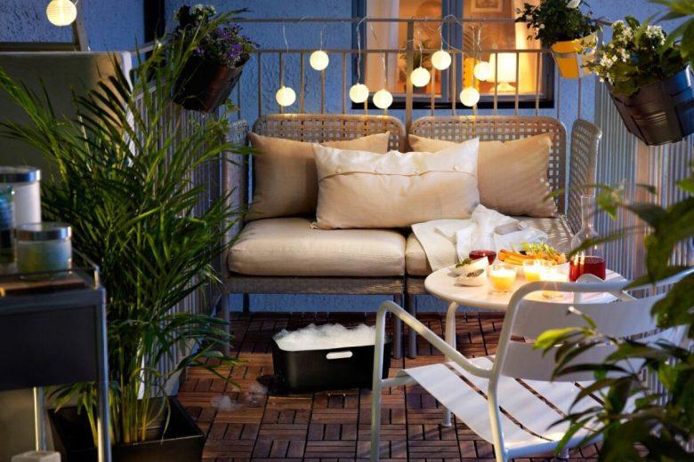 idee per lampade balcone
