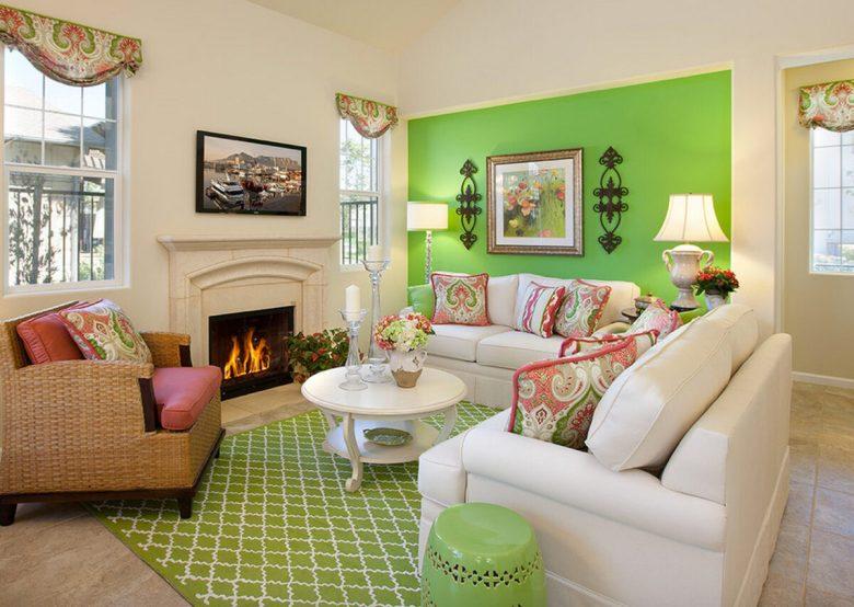 Soggiorno pareti verde lime: 10 idee e foto