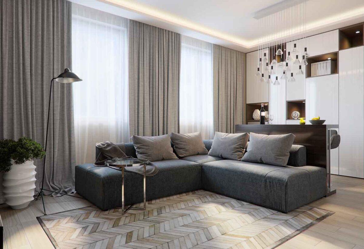 Tende per un soggiorno moderno: 10 idee e foto