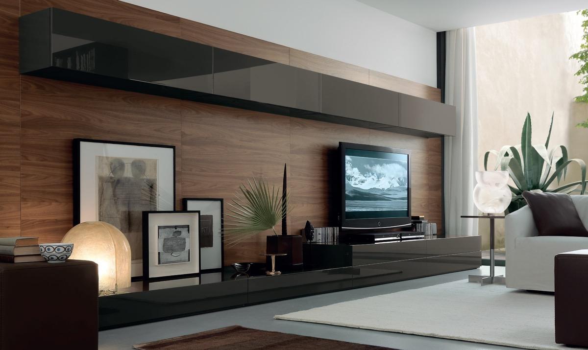 Dove mettere la TV in soggiorno: 10 idee e foto