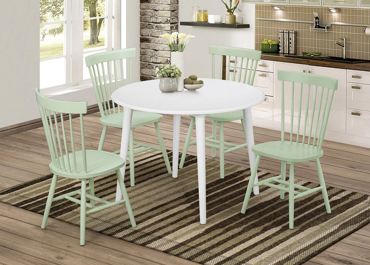 sedie color verde chiaro