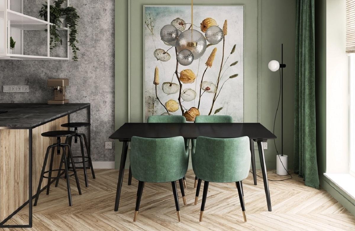 sedie color verde cucina ELEGANTI