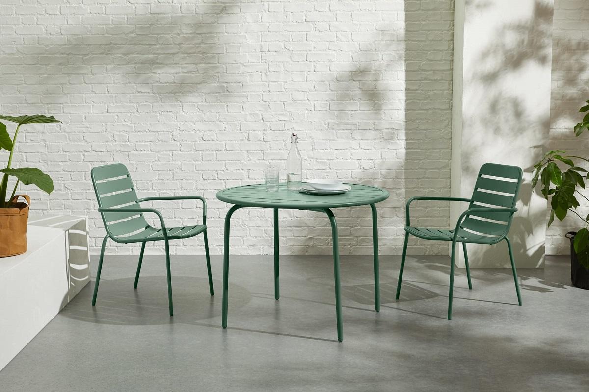 sedie color verde cucina esterni