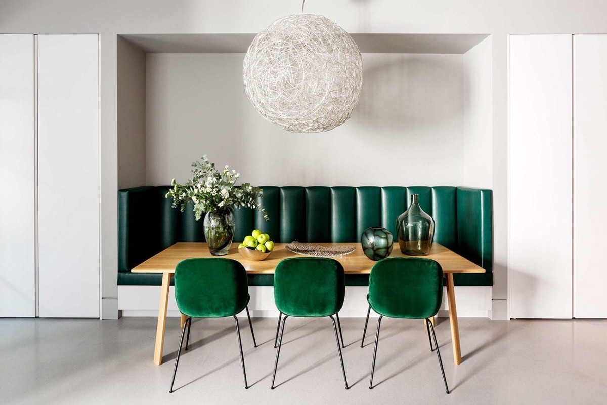 sedie color verde cucina foto 2