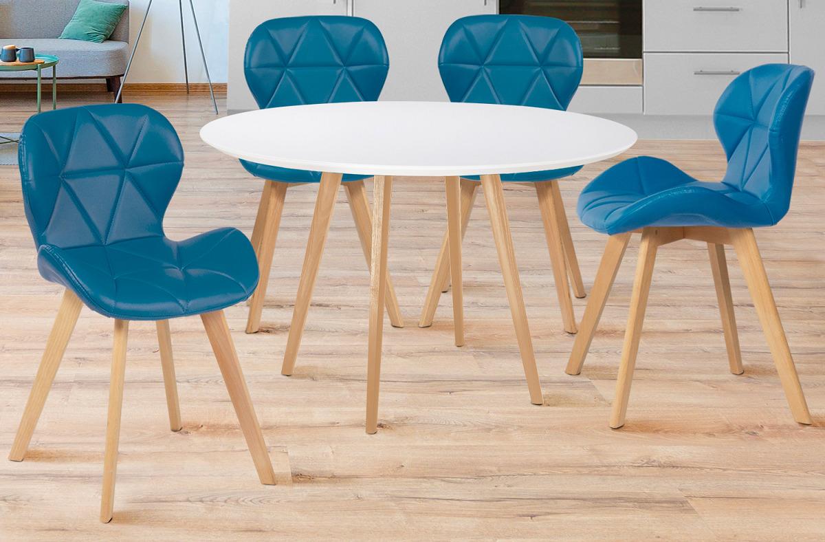 sedie-color-blu-per-la-cucina-sagomate