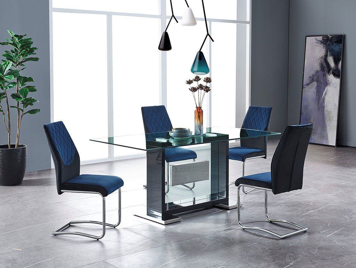 sedie-color-blu-per-la-cucina-alte