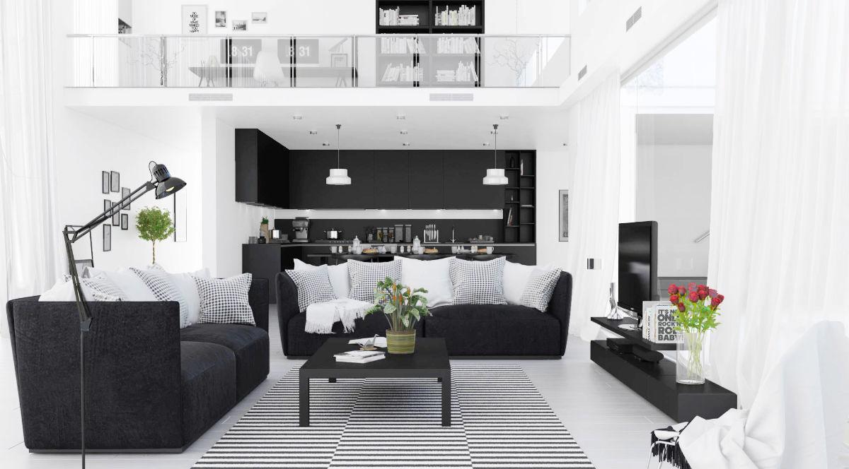 soggiorno-bianco-nero
