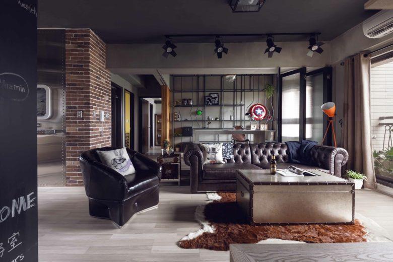 Tappeto per il soggiorno stile industrial: 10 idee e foto