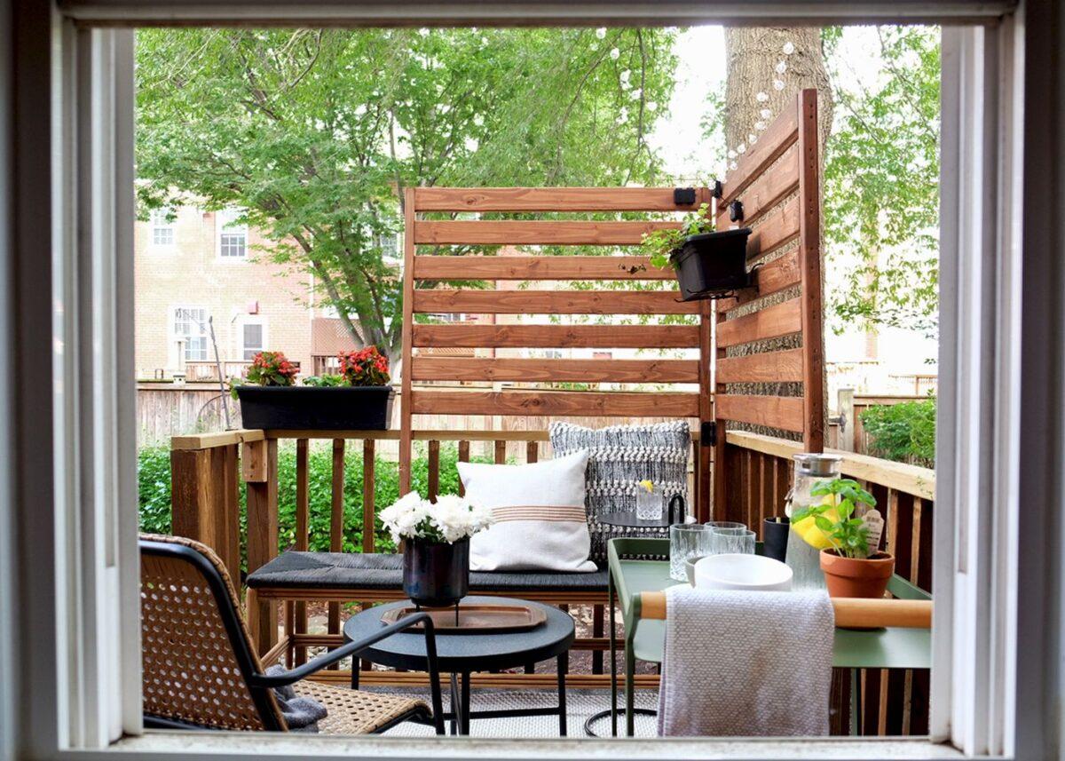 Tavolino da balcone: 10 idee e foto