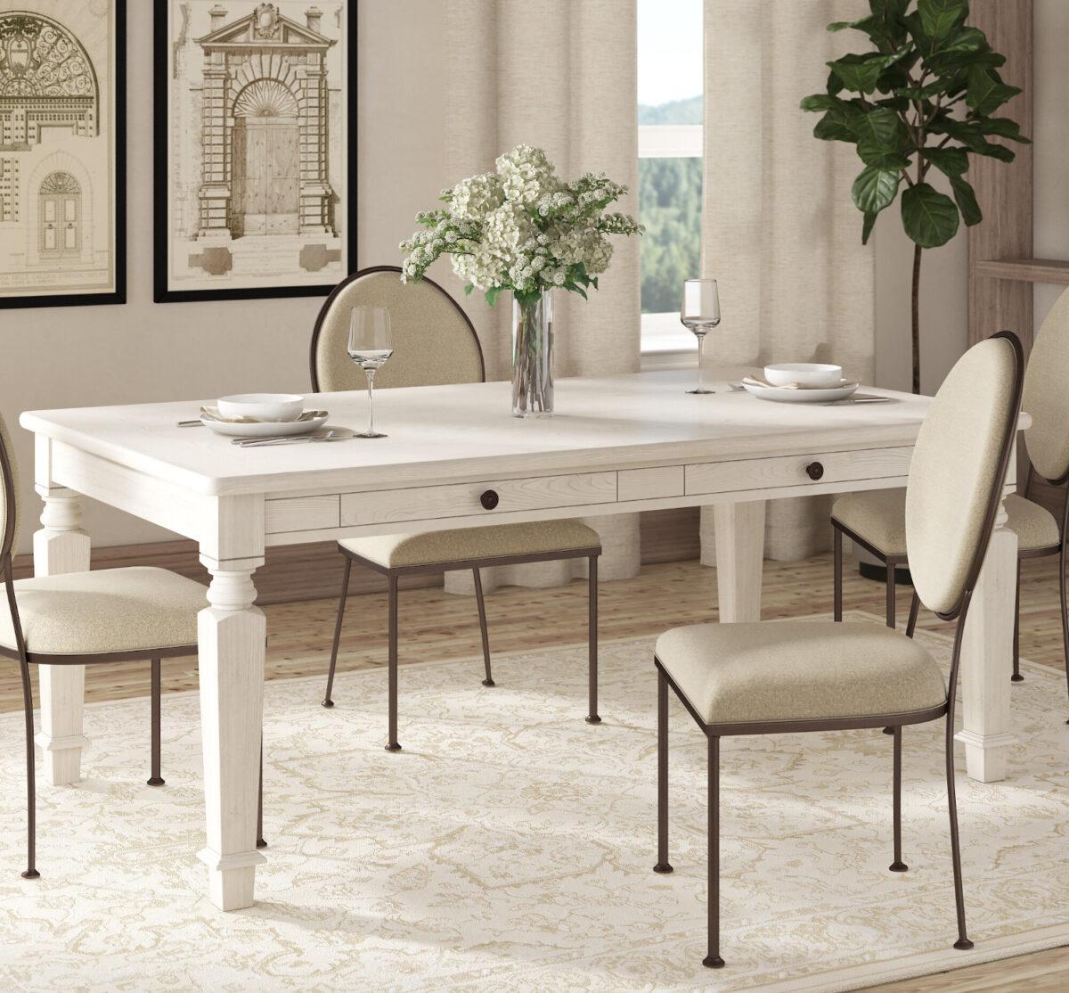 Tavolo da cucina con cassettiera
