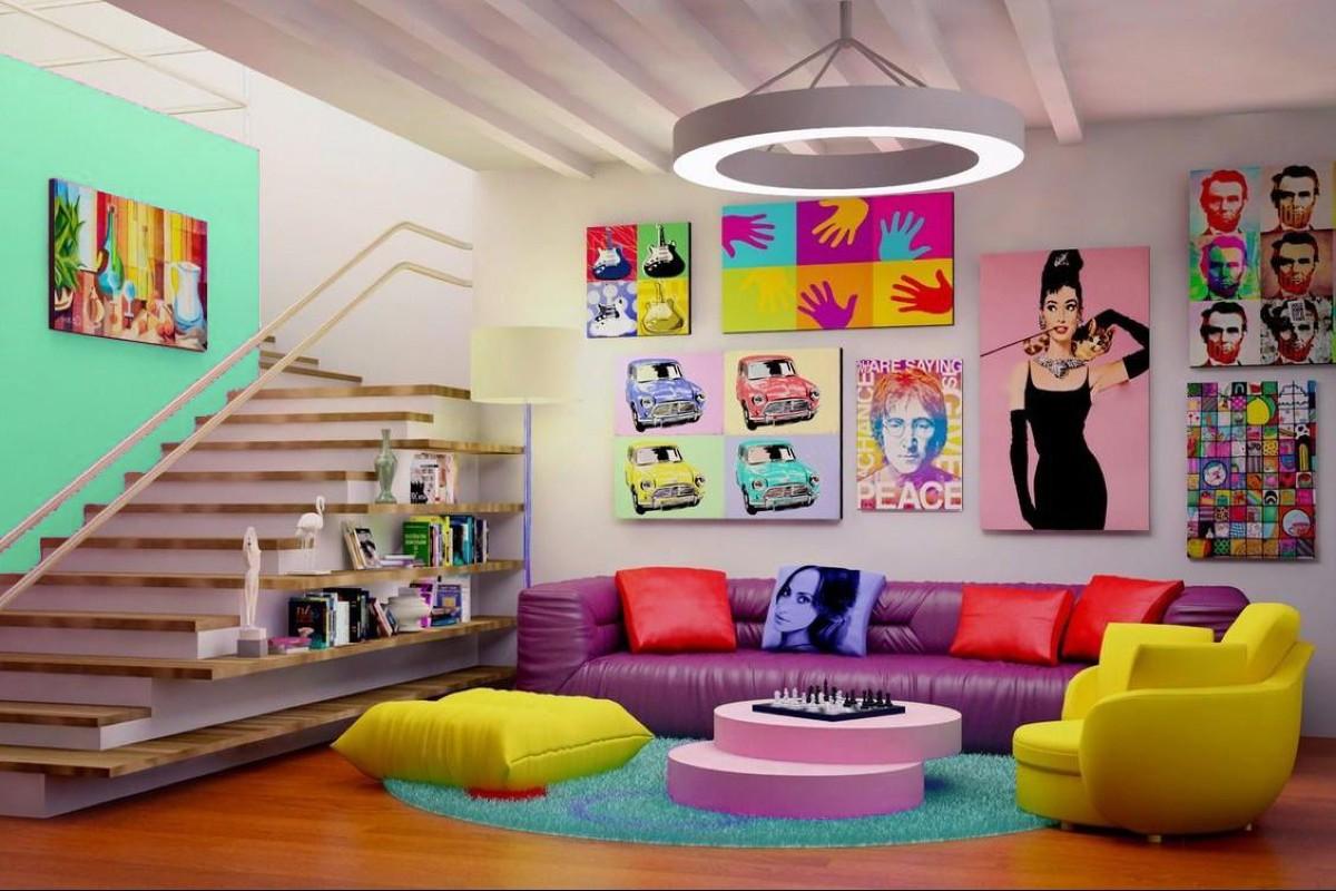 Arredare il soggiorno in stile pop: 10 idee e foto