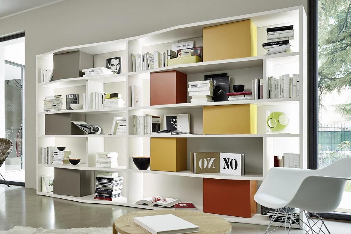 Libreria in soggiorno 10 idee e foto 11