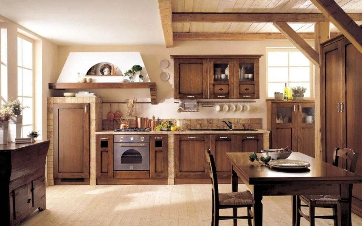 Stile coloniale in cucina