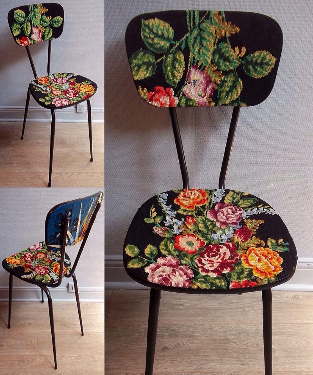 decoupage su una sedia 10 idee e foto fiori