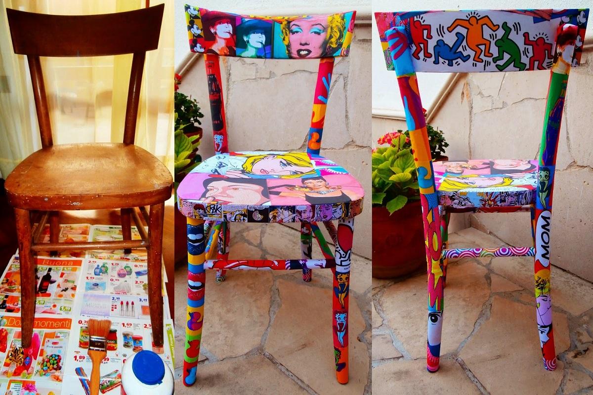 decoupage su una sedia 10 idee e foto sedia legno