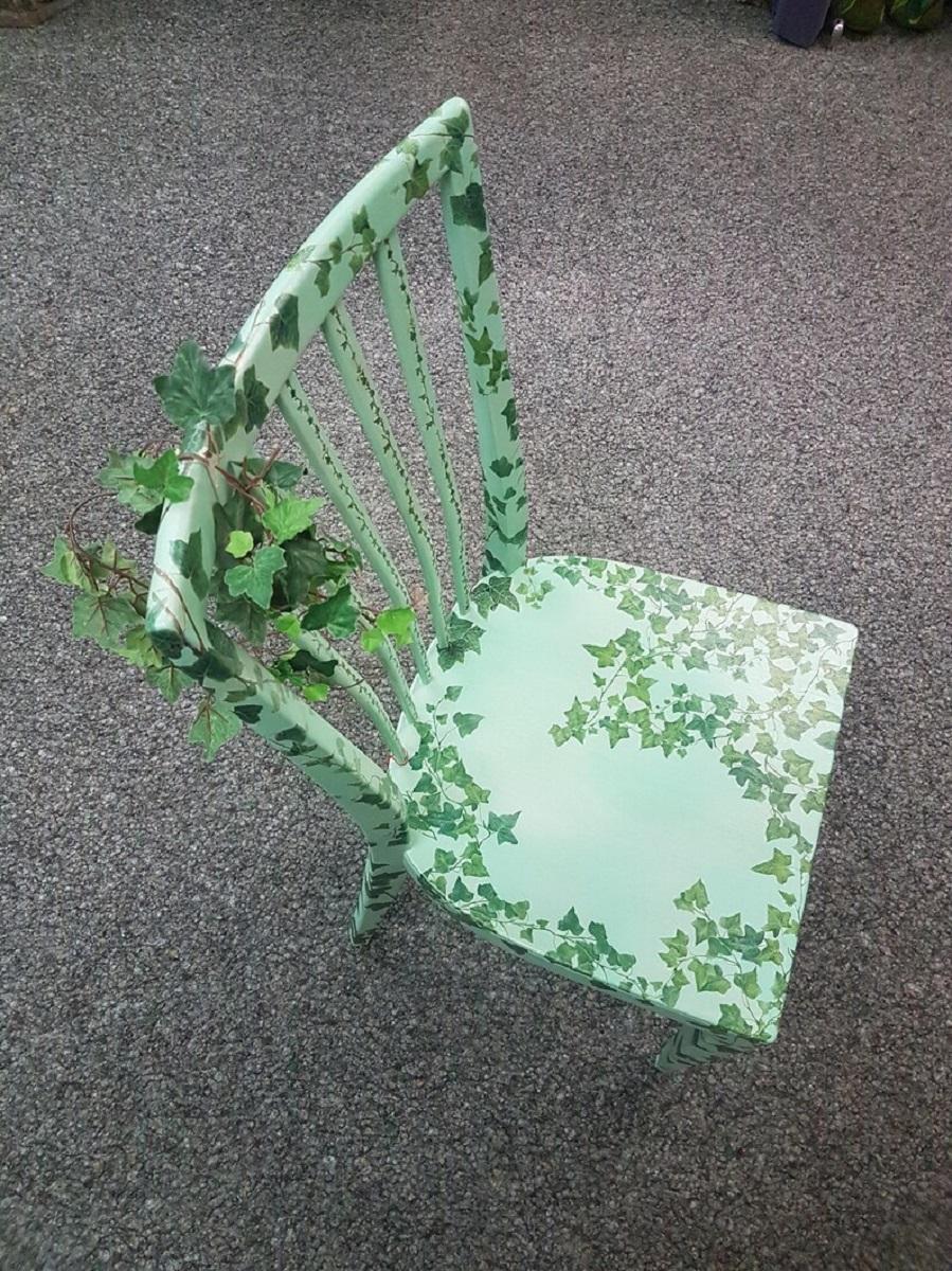 decoupage su una sedia 10 idee e foto verde natura