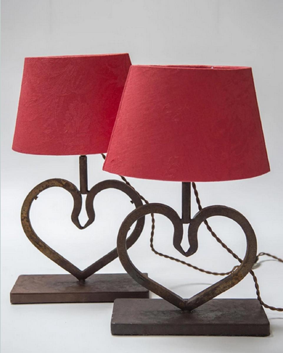 lampade-ferro-battuto-cuore