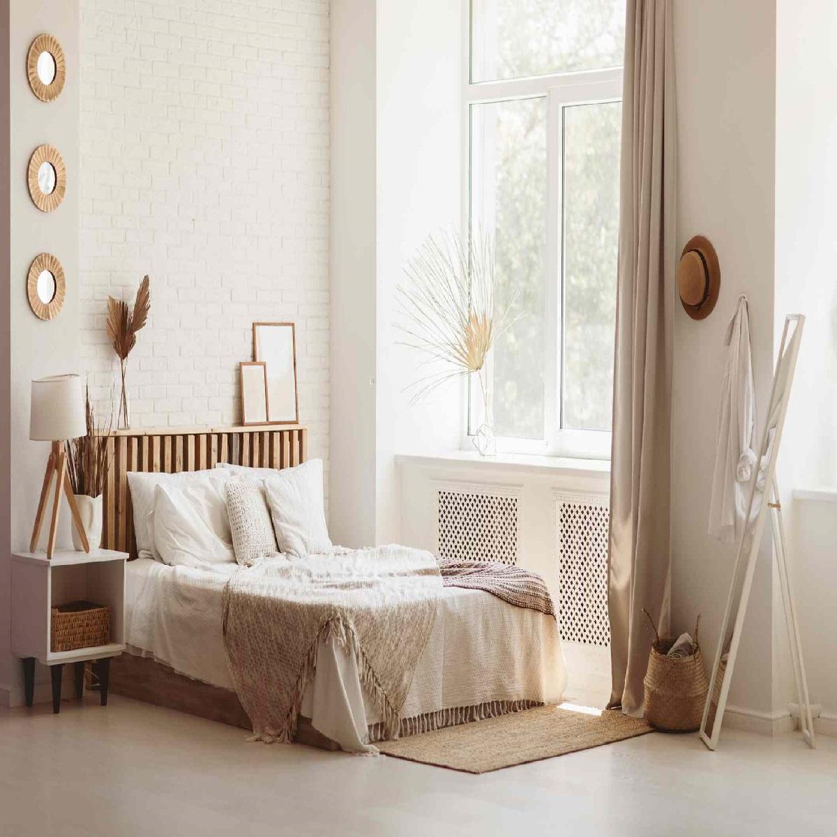 10 trucchi per rendere luminosa la camera da letto: idee e foto