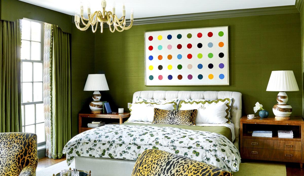Camera da letto pareti color verde muschio: 10 idee e foto