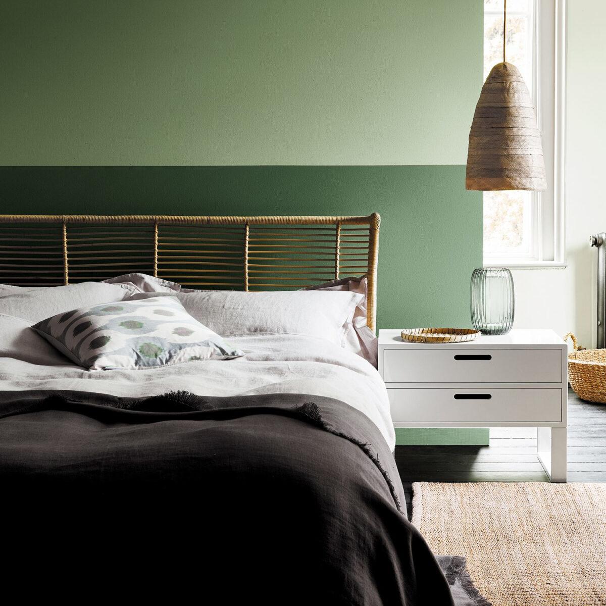 camera-parete-verde-muschio