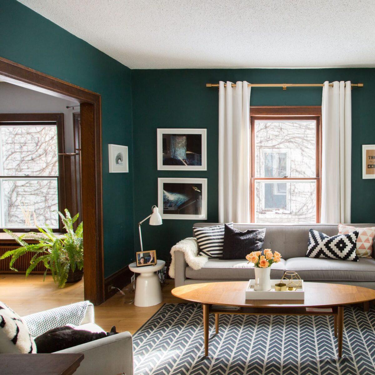 Soggiorno pareti color giada: 10 idee e foto