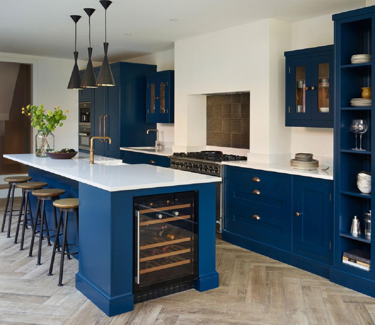 arredare la cucina con il bluette abbinamenti colore