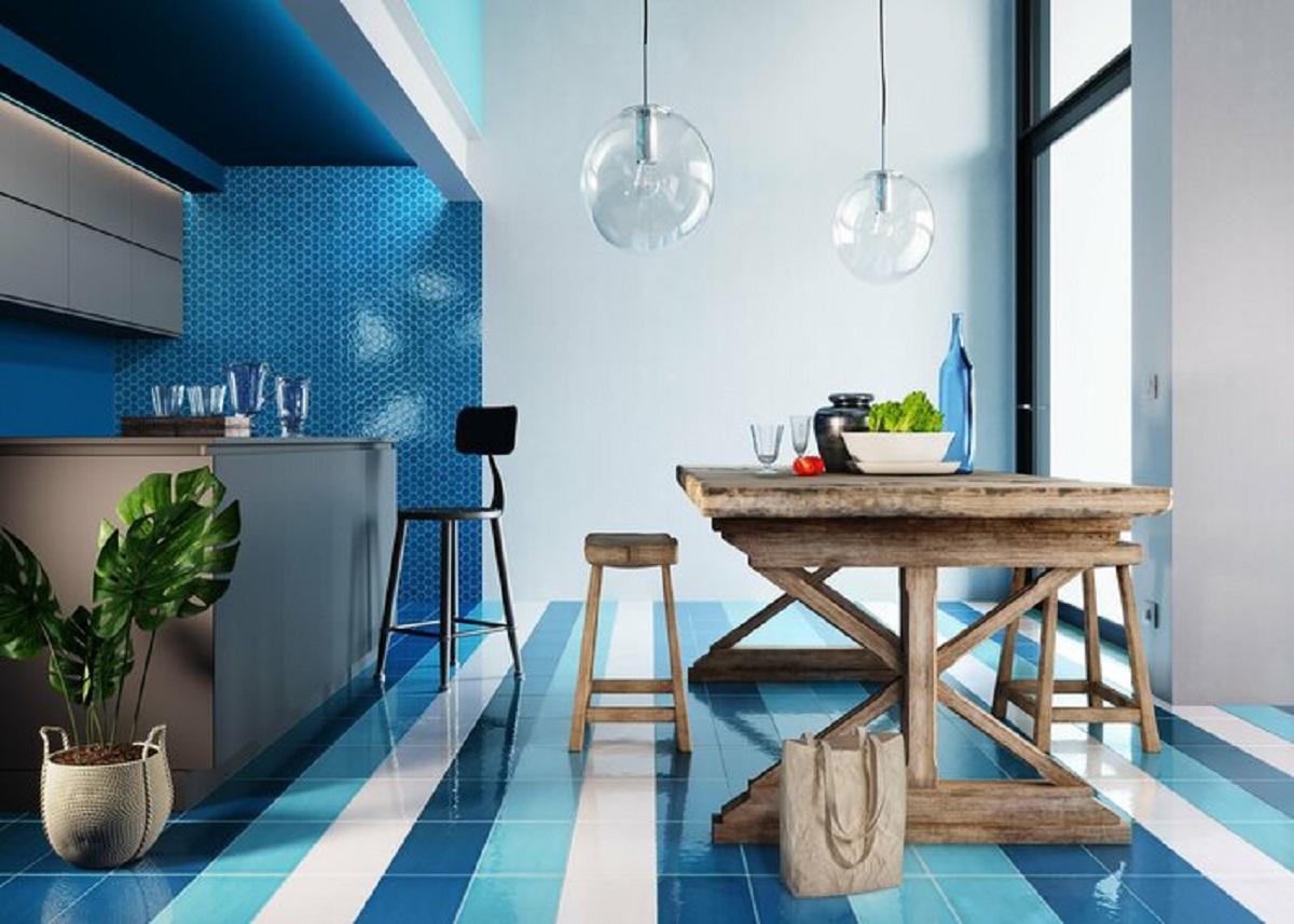 arredare la cucina con il bluette foto princ 1