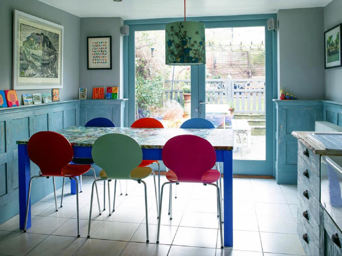 arredare la cucina con il bluette tavolo