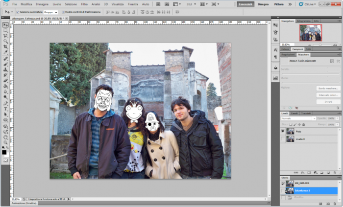 Aumentare l'altezza con Photoshop