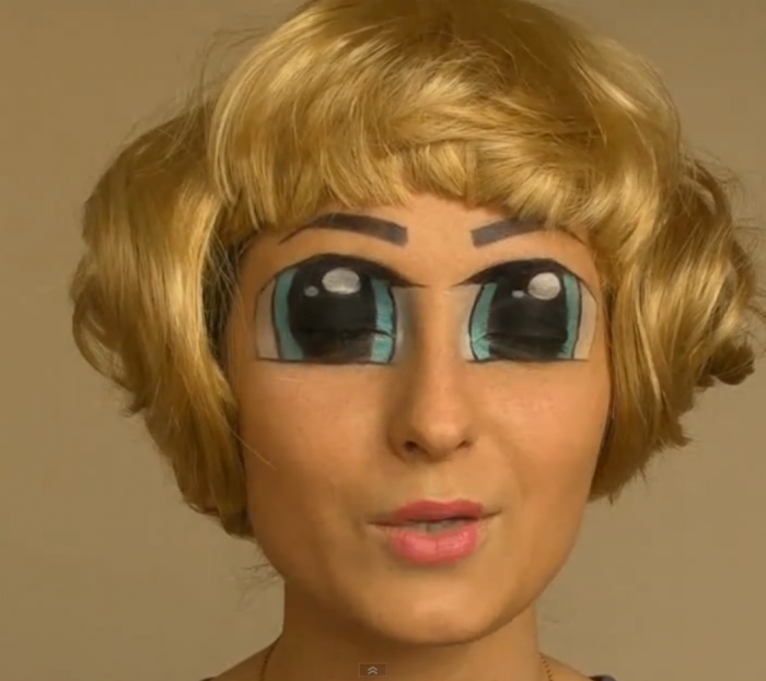 Makup occhi giganti per Halloween